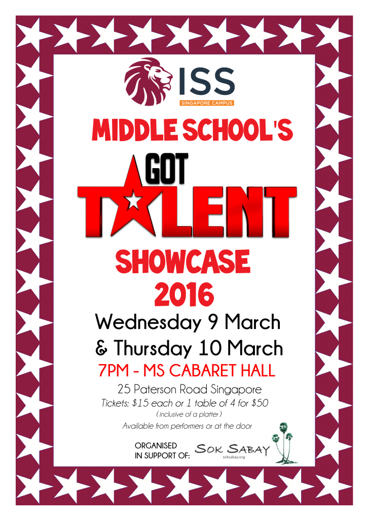 MS Talent Show poster