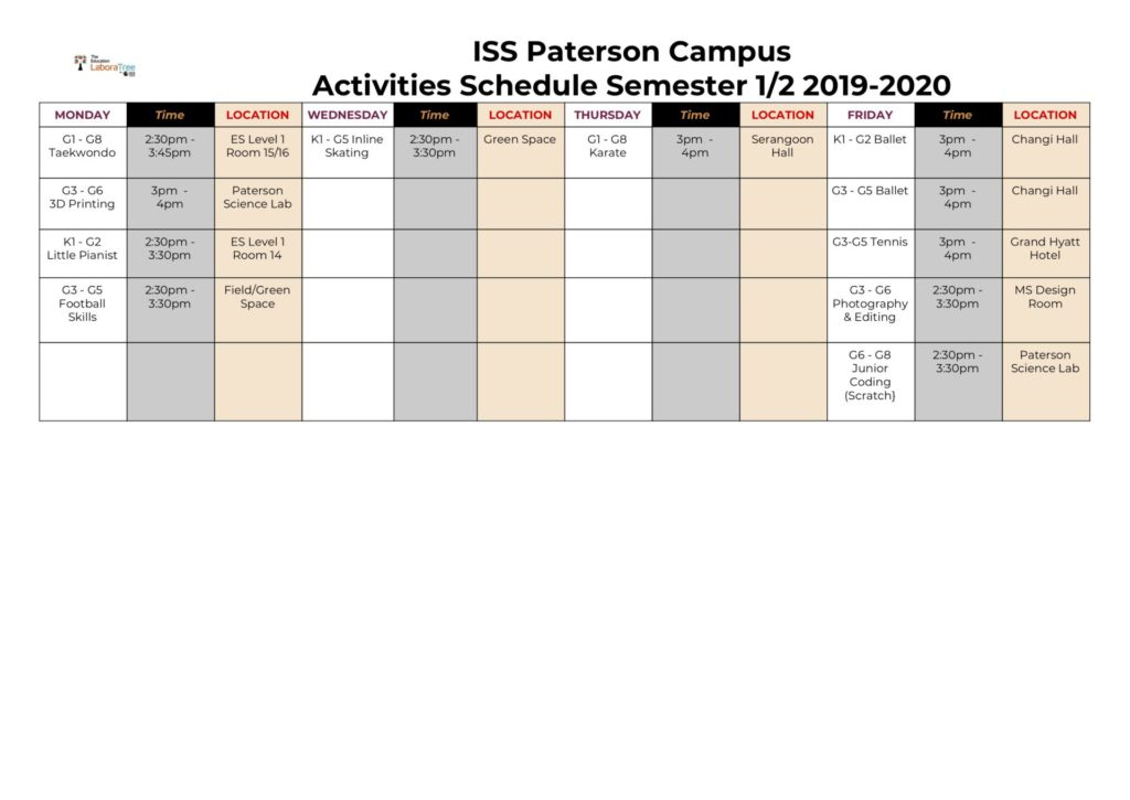 paterson-campus-activities-2019-2020-semester-1